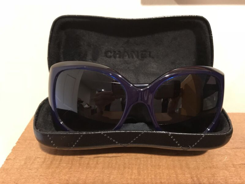 f7563b60a CHANEL 5183 c.1218/3C Sunglasses in Blue | eBay