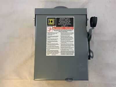Square D Du321rb General Duty 30a 240v Non Fusible Safety Switch