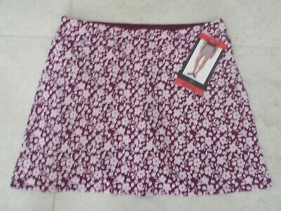"NEW TRANQUILITY COLORADO CLOTHING YOGA GOLF SKORT SKIRT ""DITZY GARDEN"" Sz MEDIUM"
