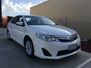 2013 Toyota Camry AVV50R Hybrid H White Constant Variable Auto Campbellfield Hume Area Preview