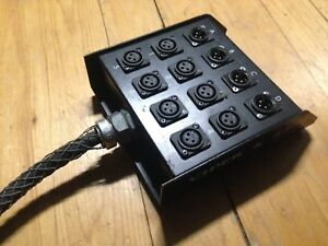 Canadian made 8 x 4 12 channel XLR microphone stage snake BRTB