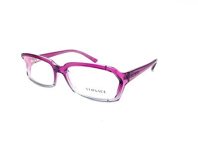 $400 VERSACE WOMENS PURPLE EYEGLASSES FRAMES GLASSES OPTICAL EYE LENS ITALY 3143