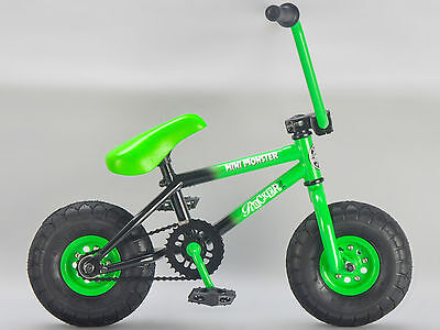 Rocker BMX Mini BMX Bike MINI MONSTER GREEN iROK+ RKR