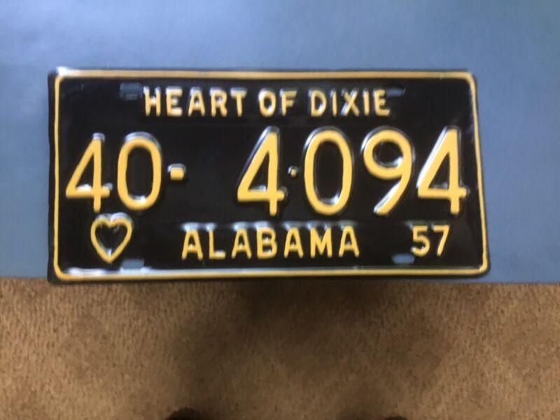 Alabama Car Tags 1957