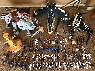 Star Wars Clone Wars Saga Collection Lot Mandalorians AT-TE Gunship Droids
