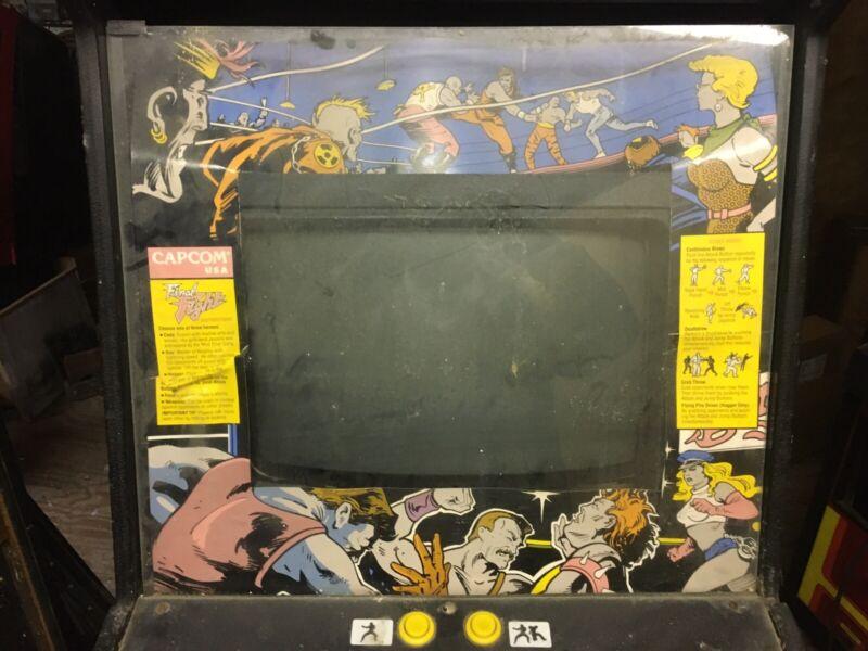 Final Fight Video Arcade Monitor Bezel & Animation Cardboard Bezel