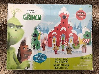 NEW Dr. Seuss The Grinch Who-Ville Holiday Advent Calendar ~ Free Priority Ship!