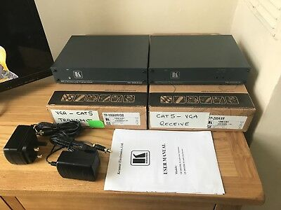 (Kramer TP-100AXR & TP-200AXR VGA Video Over Twisted Pair Transmitter & Receiver)
