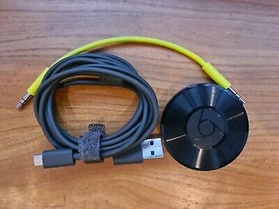 Google Chromecast Audio Media Streamer - refurb. Usb power supply only.