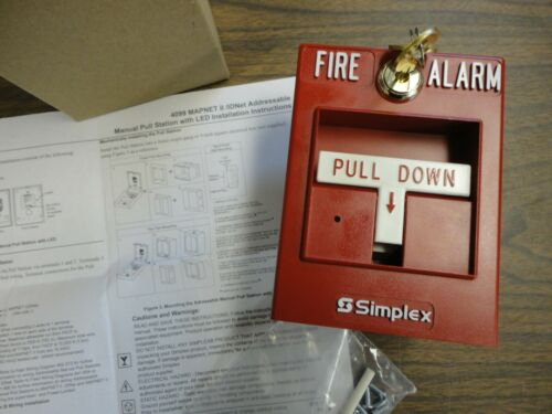 BRAND NEW - SIMPLEX FIRE ALARM # 4099-9004 Pull Station with Two Keys - N.O.S.
