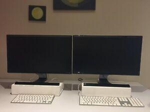 """Samsung Monitors x2 24"""" displays"""