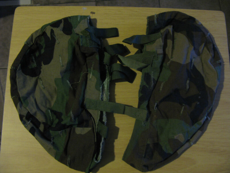 us army usmc militia Woodland BDU Camo Helmet Covers- Med/Large (LOT OF 2)