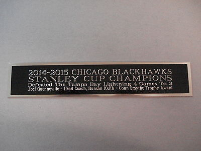 2014-15 Chicago Blackhawks Stanley Cup Nameplate For A Hockey Jersey Case 1.5X6