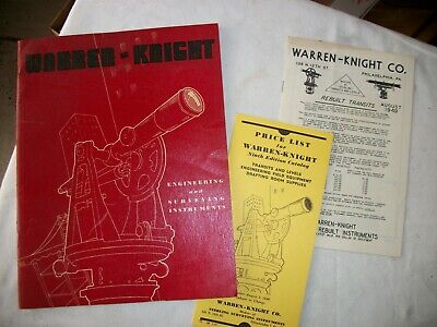 Warren-knight 9th Edition Catalog And Price Transits And Levels 1948