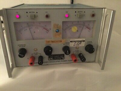 Powerline Electronic Regulated Power Supply Lab 521 Works Well And In Good Cond.