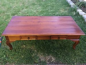 Brown wooden coffee table with 2 draws St Marys Penrith Area Preview