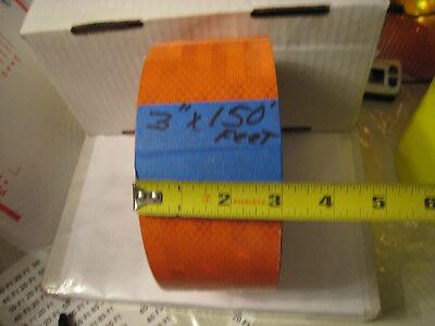 3m Brand Orange Reflective  Conspicuity Tape 3 X 150 Ft