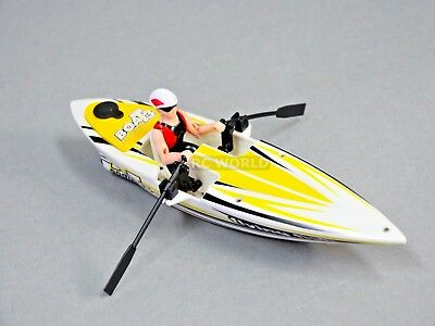 Remote Control RC ROW PADDLE BOAT Canoe RC Crew Boat - YELLOW - 2.4GHz