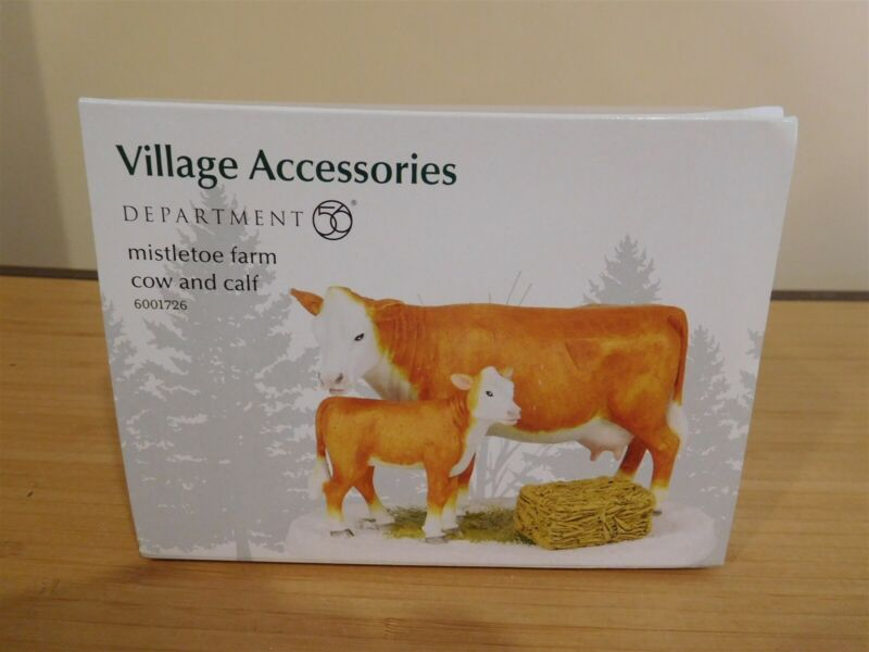 Dept 56 Village Accessories - Mistletoe Farm Cow and Calf - NIB Free Shipping