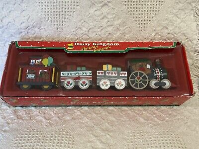 Vintage 1987 Train Set Daisy Kingdom Holiday Express Christmas Dakin RARE