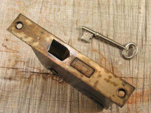 Vintage Mortise Door Lock w Skeleton Key - Antique Hardware #A