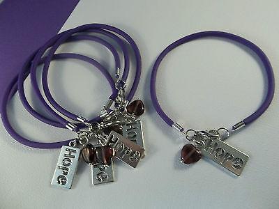 5 Hope Heart Pancreatic Cancer Alzheimers Lupus Awareness Bracelets