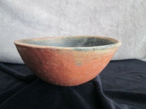 PREHISTORIC SALADO POLISHED REDWARE POTTERY BOWL approx. 1200 A.D.