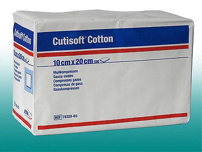CUTISOFT Cotton Kompressen unsteril 10x20cm 100Stk. Mull Verband PZN 3896853