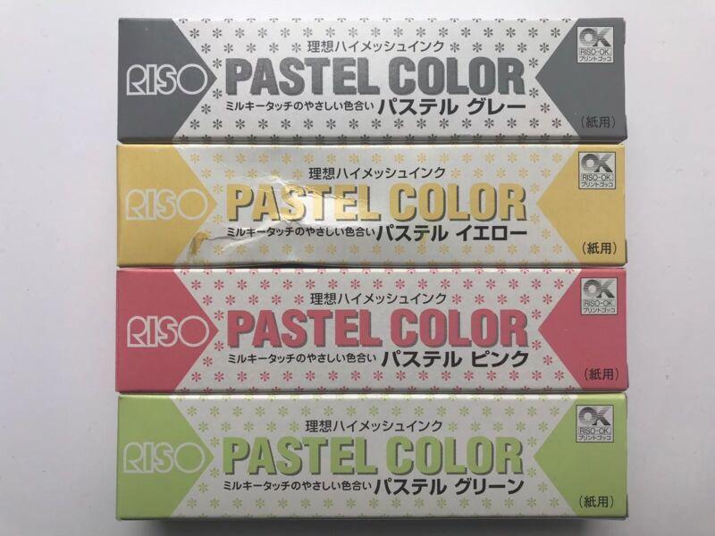 RISO Print Gocco Hi Mesh PASTEL INK for Paper LOT of 4 - vintage (NIB)