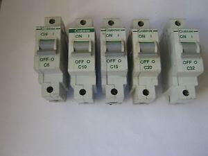 CRABTREE POLESTAR 10A 10 AMP C10 TYPE 3 OR C MCB CIRCUIT BREAKER. BS 3871