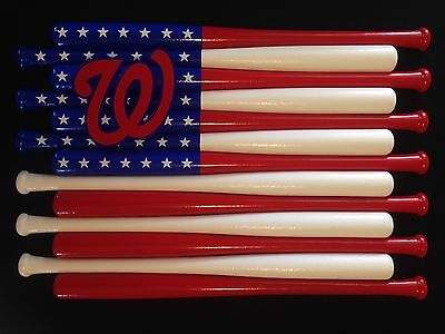 Washington Nationals Team Logo Baseball Bat Flag (Choose Team And Colors)
