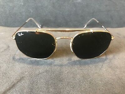 RayBan Sunglasses 3648 Color 001 NEW AUTHENTIC Gold size 54 G-15 lenses 100% UV