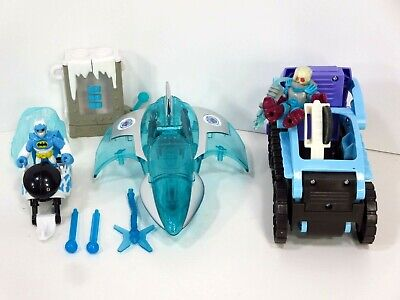 Batman Mr Freeze Chamber Jet Snow Cat Snowmobile DC Super Friends Lot Imaginext