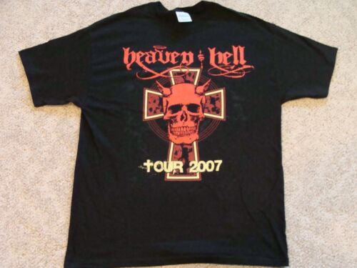 Heaven and Hell 2007 Tour T-shirt w dates NEW Adult Large Hard to find