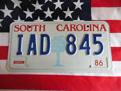 US SOUTH CAROLINA IAD 845 PALME ALT AUTO CAR KENNZEICHEN NUMMERSCHILD PLATE USA