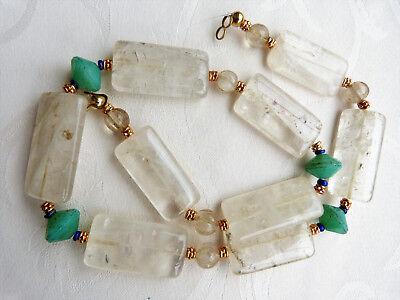 Gorgeous old Himalaya Rock Crystal Beads necklace, Nepal Rock Crystal Beads OOAK