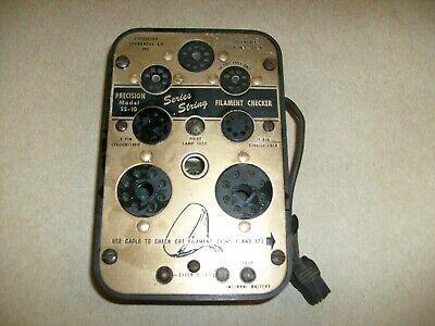 Precision Apparatus Series Ss-10 Filament Checker Tube Tester Pin Straightener