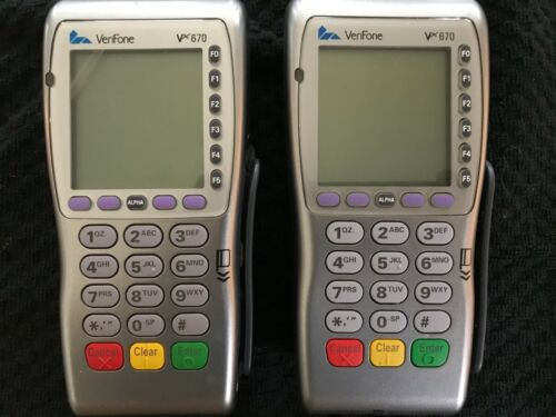 2 VeriFone VX670 Payment Terminal Credit/Debit Card Reader