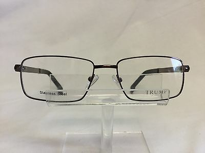 New Donald Trump Eyeglasses Sunglass DT81 Brown Stainless Steel Spring Hinges