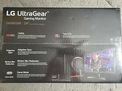 "Brand New 24"" LG 1ms GtG Gaming Monitor 24GN50W 144Hz TN panel"