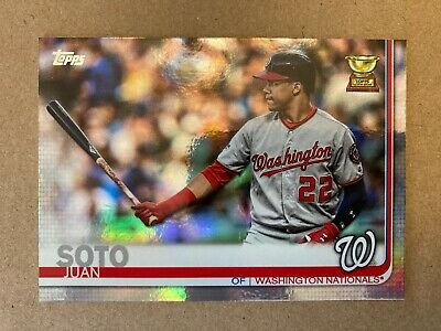 2019 Topps SERIES 1 Chrome Juan Soto ALL-STAR ROOKIE #213 MINT