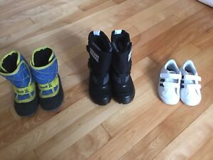 Size 6 boots and sneakers