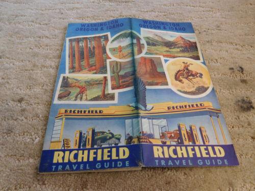 Richfield Gas Station Road Map, 1940, Wa.,Or.,Id
