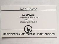 Licensed and insured master electrician seeking projects