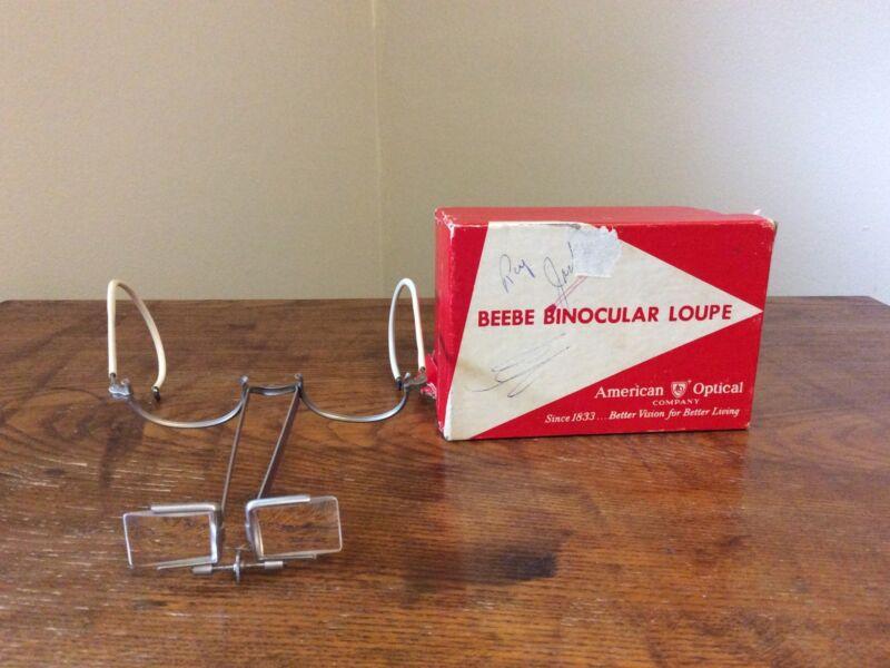 VTG American Optical Beebe Loupe Binocular Surgeons Magnifier Eyeglasses #1603