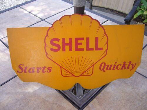 NOS Vintage SHELL Starts Quick Motor Oil Gas Service Station Radiator Shield