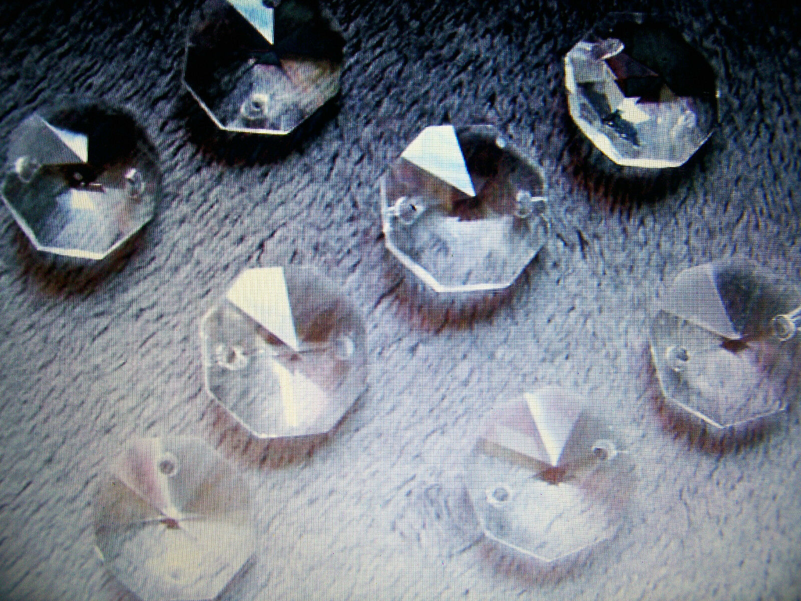 200- 14MM AAA 2 HOLE CLEAR OCTAGON CRYSTAL GLASS BEADS CHANDELIER CHAIN PART
