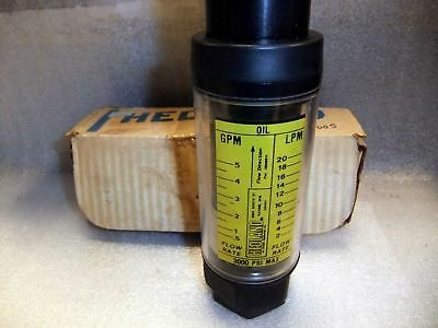 Hedland In-line Flow Meter 3000 Psi 7741-212 02e3c
