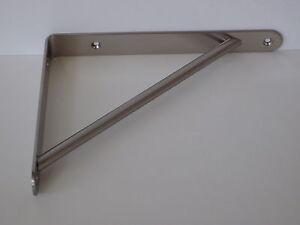 Reggimensola reggimensole acciaio ottonato 19x14 mital for Supporti per mensole