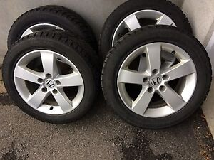 4 winter tires with mag.   205/55/16. (5x114.3)